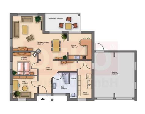 Grundriss Haus Integrierte Garage by Grundriss L 228 Ngliches Haus Grundriss Bungalow Mit