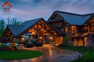 Lodge Style Living- Rocky Mountain Homes - Rustic - Garage