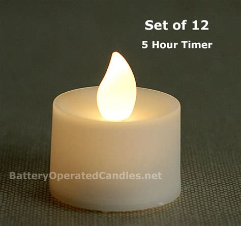 flameless tea lights with timer tall flameless tea lights warm white led battery operated