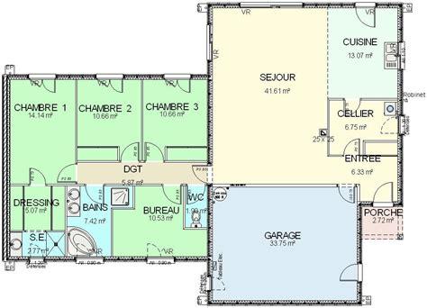 plan maison 6 chambres plain pied plan maison 6 chambres gallery of plan maison plein pied
