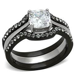 black engagement rings black stainless steel wedding ring engagement rings review