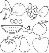 Coloring Fruit Printable Pages sketch template