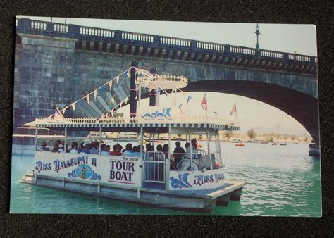 Boat Shop Lake Havasu by 1980s Miss Havasupai Cruise Boat Tour Bridge Lake