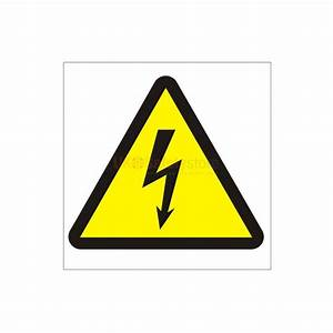 Electrical Risk Symbol Sign - Electrical Safety Signs ...