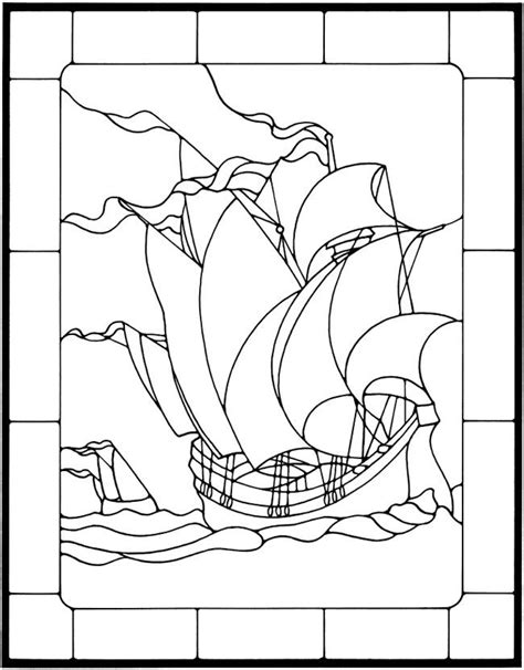 Nautical Designs Stained Glass Pattern Book Dover Publications | Stained Glass Coloring