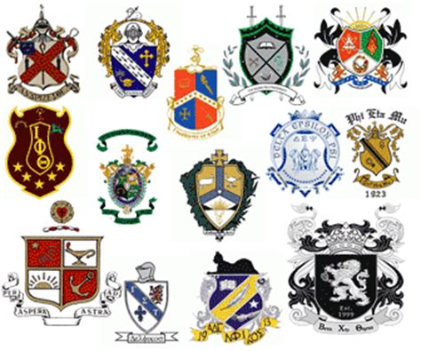 fraternity crests symbols collection findthatlogocom