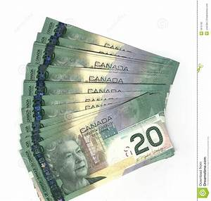Fanned Out Canadian Twenty Dollar Bills Royalty Free Stock ...