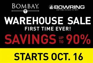 Bombay & Bowring WAREHOUSE SALE - Toronto Mommies