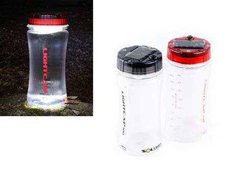 lightcap solar powered lantern water bottle personal