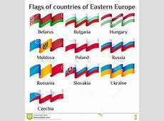 Flags Of Eastern Europe RoyaltyFree Stock Image