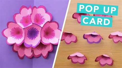 How To Make Popup Flower Card  Diy Pop Up Cards Craft
