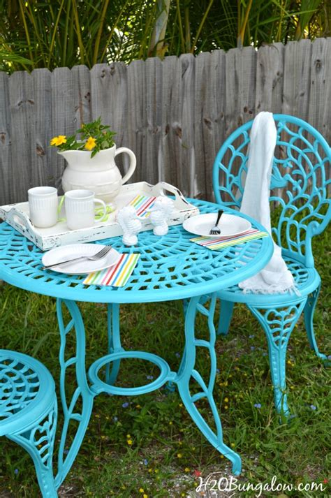 how to spray paint metal outdoor furniture to last a