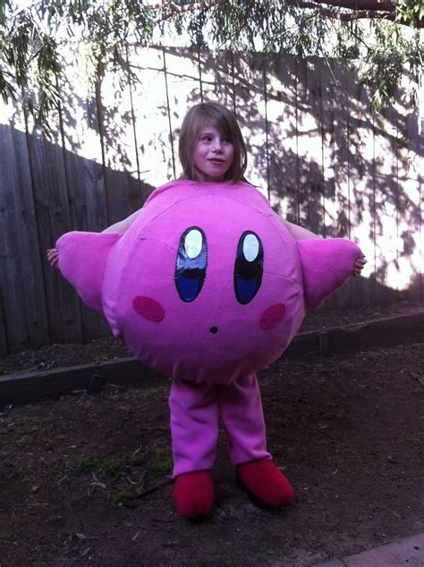 homemade kirby costume halloween autumn  goodness
