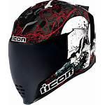 Helmet Motorcycle Skull Icon Racing Riding Airflite