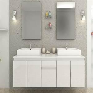 Prix Meuble Salle De Bain : ensemble meuble salle de bain bilbao blanc ~ Teatrodelosmanantiales.com Idées de Décoration