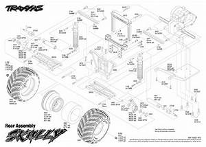 Exploded View  Traxxas Skully Monster Truck 1 10 Tq Rtr