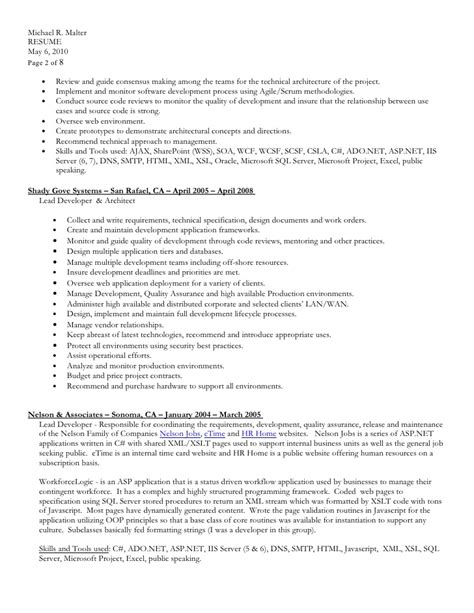 resume in ms word format doc