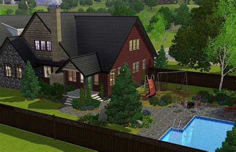 Mod The Sims   'November' 4 bdr, 3.5 bath Craftsman with