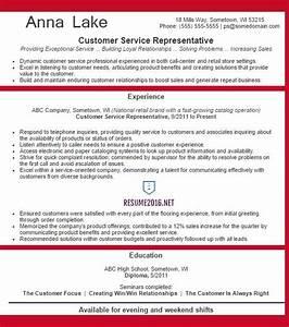 Customer service representative resume example 2016 for Customer service resume examples