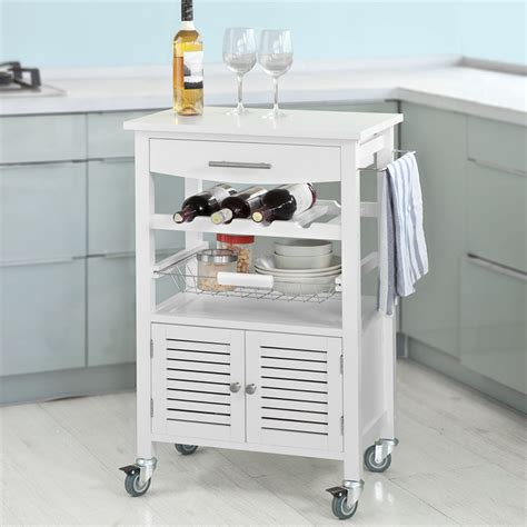 kitchen trolley cabinet sobuy bamboo kitchen trolley storage cart cabinet with 3392