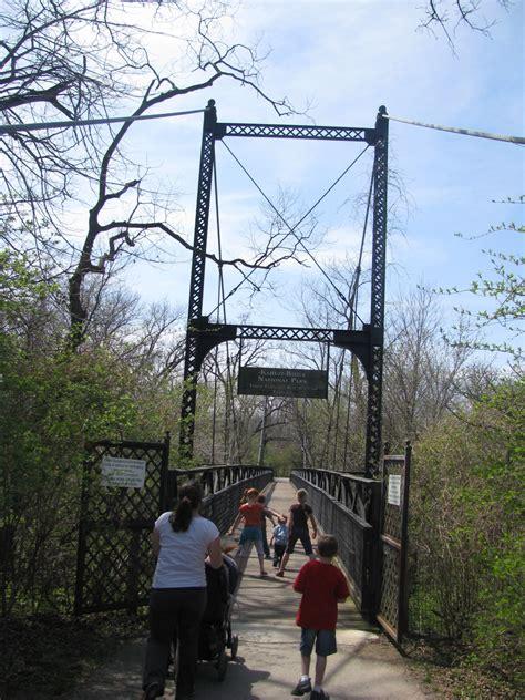 bridgehuntercom swope park kansas city zoo suspension footbridge