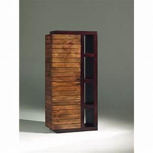 Meuble En Manguier : colonne r tro en bois salon art deco en manguier massif ~ Teatrodelosmanantiales.com Idées de Décoration