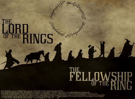 Film Poster  Lord Of The Rings The Fellowship Of The Ring