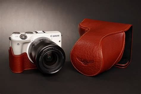 canon eos m bag handmade genuine real leather bag for