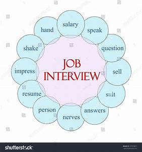 Job Interview Concept Circular Diagram In Pink And Blue
