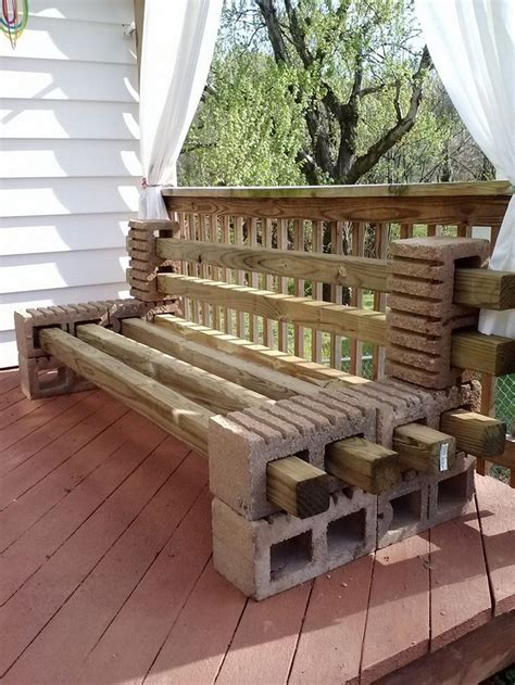 how to build a bench seat with storage cinder block bench for your home outdoor s