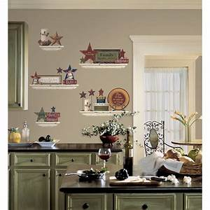 Decorating a kitchen wall design decoration for Kitchen colors with white cabinets with wagon wheel wall art