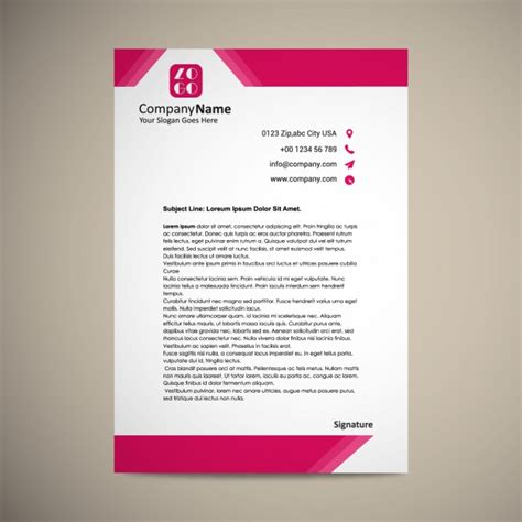 create a blueprint free letterhead template design vector free