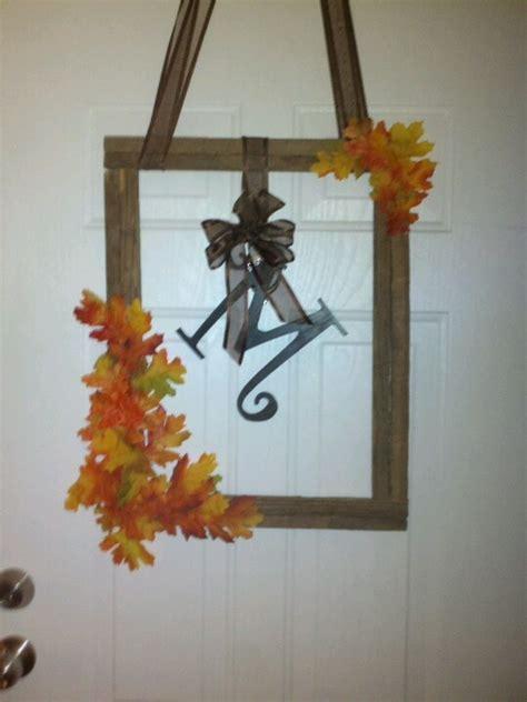 fall wreath    tobacco sticks house