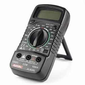 Lcd Digital Dc  Ac Multimeter Xl830l Voltmeter Ammeter
