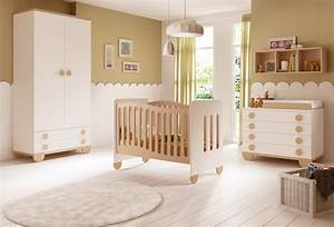 Chambre de bebe mixte gioco avec lit et armoire glicerio for Chambre de bebe mixte