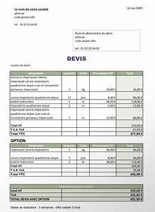 Devis Auto : imprimer exemple de devis auto entrepreneur btp ~ Gottalentnigeria.com Avis de Voitures