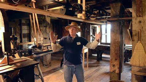 incredible water powered wood shop  hancock shaker