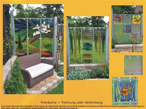 Trennwände Für Den Garten by Glas Im Garten Gartenstele Aus Glas Der Glasgarten Am