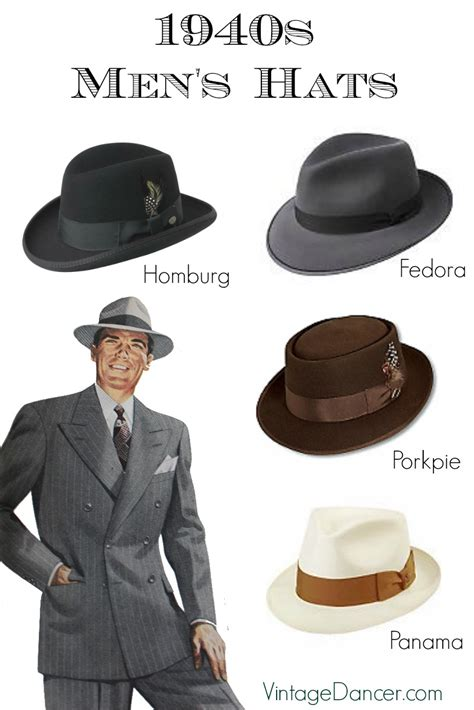 1940s Men's Hats: Vintage Styles, History, Buying Guide