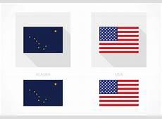 Free Alaska And USA Flag Vector Download Free Vector Art