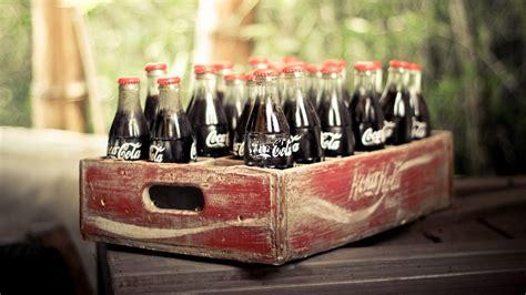 Wallpaper Coca Cola Drink Soda Box Vintage Retro