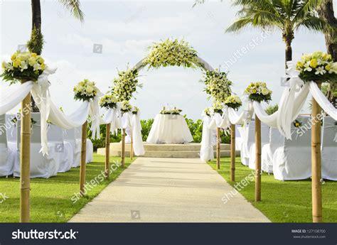 how to set up a garden wedding set garden inside beach stock photo 127108700 shutterstock