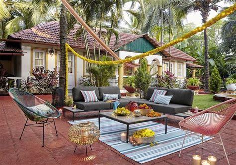 tapis dexterieur pour  coin outdoor super cosy elle decoration
