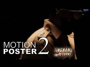 SINGHAM RETURNS | MOTION POSTER # 2 - YouTube