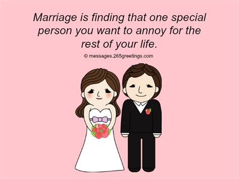 Funny Wedding Wishes And Quotes