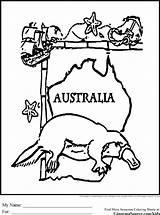 Coloring Australian Australia Animal Colouring Gharial Animals Flag Sheets Aboriginal Easter Preschool Ginormasource Printable Adult Popular Designlooter sketch template