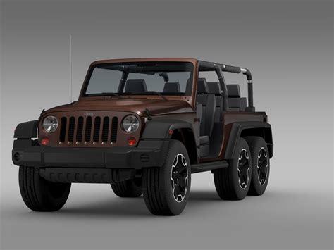 Jeep Wrangler Rubicon 3 0 jeep wrangler rubicon 6x6 2016 3d model max obj 3ds fbx