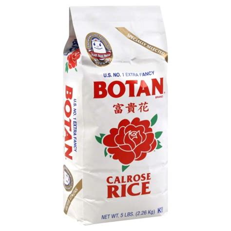 Botan Rice by Botan Musenmai Calrose Rice 5 Pound Bag Jet