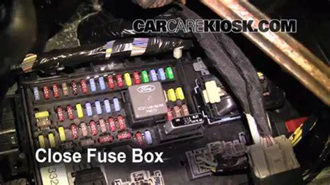interior fuse box location   ford flex