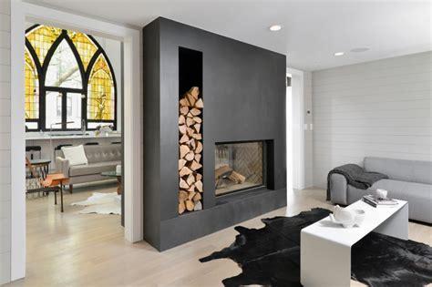 canapé vitra cheminée moderne